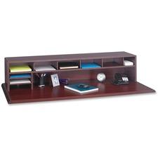 SAF 3671MH Safco Low-Profile Wood Desktop Organizer SAF3671MH