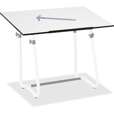 "Safco Vista Drawing Table Base - 46"" Height x 35"" Width x 29"" Depth - White"
