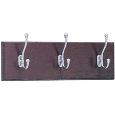 SAF 4216MH Safco 3-Hook Wood Wall Rack SAF4216MH