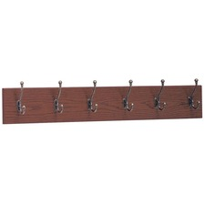 SAF 4217MH Safco 6-Hook Wood Wall Rack SAF4217MH