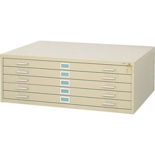SAF 4998TSR Safco 5-Drawer Steel Flat File SAF4998TSR