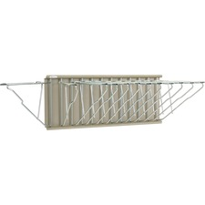 "Safco Pivot Wall Rack - 9.8"" Height x 24"" Width x 14.8"" Depth - Wall Mountable - Tropic Sand - Steel - 1 / Each"