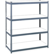"Safco Archival Shelving Steel Frame Box 1 of 2 - 69"" x 33"" x 84"" - 4 x Shelf(ves) - Legal, Letter - 1133.98 kg Load Capacity - Security Lock - Gray - Powder Coated - Steel, Particleboard"