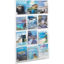 SAF 5602CL Safco 12 Pocket Magazine Display SAF5602CL