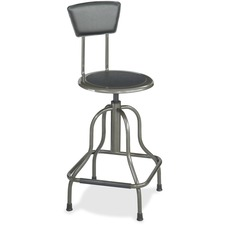 SAF 6664 Safco Diesel Series High Base Stool w/Back SAF6664