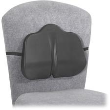 "Safco SoftSpot Low Profile Backrest - Non-abrasive, Anti-static, Washable, Elastic Strap - 14"" (355.60 mm) x 2.50"" (63.50 mm) x 11"" (279.40 mm) - Black"