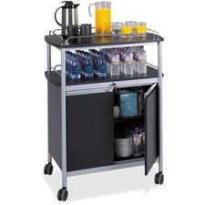 SAF 8964BL Safco Locking Cabinet Mobile Beverage Stand SAF8964BL