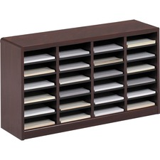 SAF 9311MH Safco E-Z Stor Wood Literature Organizers SAF9311MH