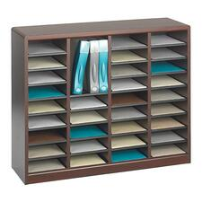 SAF 9321MH Safco E-Z Stor Wood Literature Organizers SAF9321MH