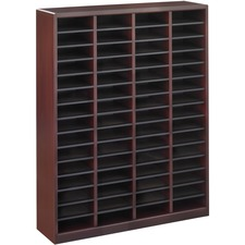 SAF 9331MH Safco E-Z Stor Wood Literature Organizers SAF9331MH