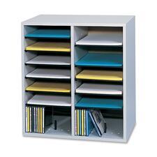 SAF 9422GR Safco Adjustable Shelves Literature Organizers SAF9422GR