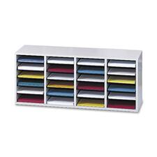 SAF9423GR - Safco Adjustable Shelves Literature Organizers