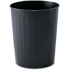 "Safco Fire-safe Steel Round Wastebasket - 22.71 L Capacity - Round - 13"" (330.20 mm) Opening Diameter - 14"" Height - Steel - Black"