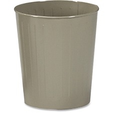 "Safco Fire-safe Wastebasket - 22.71 L Capacity - Round - 13"" (330.20 mm) Opening Diameter - 14"" Height - Steel - Sand - 1 Each"