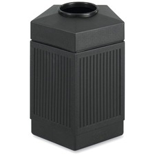 SAF 9486BL Safco Indoor/Outdoor Pentagon Shape Receptacle SAF9486BL