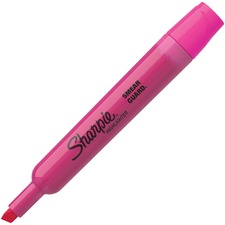 Sharpie SmearGuard Tank Style Highlighters - Chisel Marker Point Style - Fluorescent Pink - 12 / Dozen