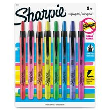 SAN 28101 Sanford Sharpie Smear Guard Retract Highlighters SAN28101
