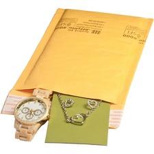 "Sealed Air JiffyLite Cellular Cushioned Mailers - Bubble - #000 - 4"" Width x 8"" Length - Peel & Seal - Kraft - 25 / Carton - Kraft"