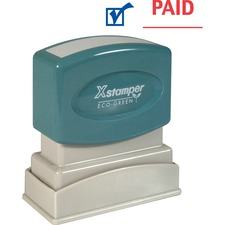 Xstamper Red/Blue PAID Title Stamp