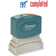 XST 2026 Xstamper Red/Blue COMPLETED Title Stamp XST2026