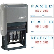 XST 40330 Xstamper Self-Inking Paid/Faxed/Received Dater XST40330