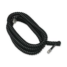 Softalk Modular Plug Handset Coil Cord - 25 ft Phone Cable for Phone - First End: 1 x RJ-11 Male Phone - Second End: 1 x RJ-11 Male Phone - Black - 1 Each