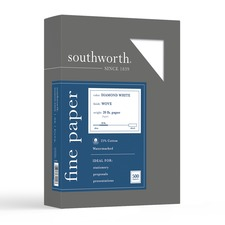 SOU 3122010 Southworth Diamond White 25% Cotton Business Paper SOU3122010