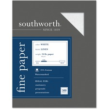 SOU 554C Southworth 24lb White Linen Business Paper SOU554C