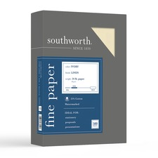 SOU 564C Southworth 24lb Ivory Linen Business Paper SOU564C