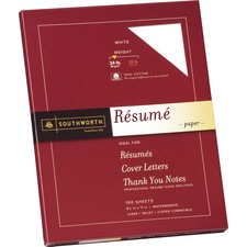 SOU R14CF Southworth 100% Cotton Resume Paper SOUR14CF