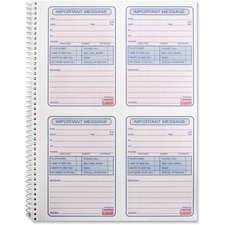 SPR 02302 Sparco 4CPP Carbonless Telephone Message Book SPR02302