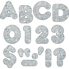 """TEP T1613 Trend 4"""" Sparkle Uppercase Ready Letters Set TEPT1613"""