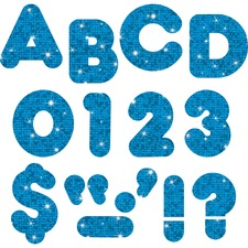 """TEP T1617 Trend 4"""" Sparkle Uppercase Ready Letters Set TEPT1617"""