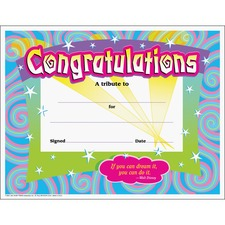 TEP T2954 Trend Congratulations/Swirls Award Certificates TEPT2954