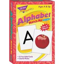 TEP T58001 Trend Alphabet Match Me Flash Cards TEPT58001