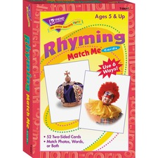TEP T58007 Trend Rhyming Words Match Me Flash Cards TEPT58007