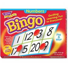 TEP T6068 Trend Numbers Bingo Learning Game TEPT6068