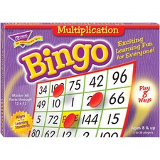 TEP T6135 Trend Multiplication Bingo Learning Game TEPT6135