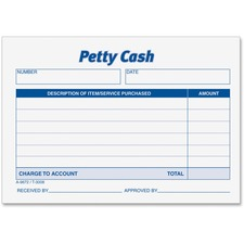TOP 3008 Tops Received of Petty Cash Forms TOP3008