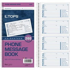 Tops Carbonless While You Were Out Book