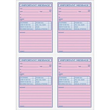 TOP 4009 Tops 4CPP Important Phone Message Book TOP4009