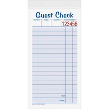 TOP 45702 Tops 2-part Carbonless Guest Check Books TOP45702
