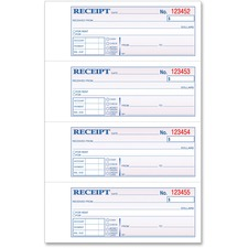 TOP 46806 Tops Money/Rent Receipt Book TOP46806