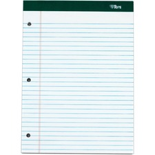 TOP 63437 Tops Docket 3-hole Punched Legal Ruled Legal Pads TOP63437