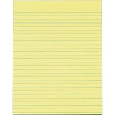 TOP 7524 Tops Wide Ruled Glue-Top Canary Writing Pads TOP7524