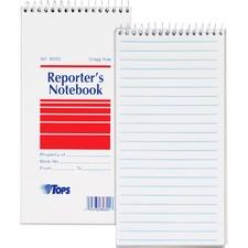 TOP 8030 Tops Gregg Ruled Reporter's Notebook TOP8030