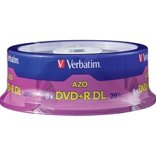 Verbatim DVD+R Dual Layer Storage Media, 20 Pack