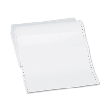 """Sparco Continuous Paper - White - Statement - 9 1/2"""" x 5 1/2"""" - 20 lb Basis Weight - 4800 / Carton"""