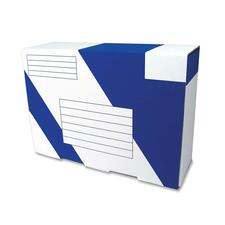 """Crownhill Corrugated Shipping Box with Sealing Tape - External Dimensions: 13.5"""" Width x 9.5"""" Depth x 4.5"""" Height - 200 lb - Blue, White - For Document"""