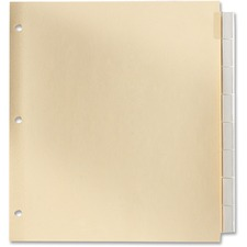 Oxford Insertable Index Tab - 8 Tab(s) - Legal - Manila Divider - 4 hole punch - Clear Plastic Tab(s) - 8 / Set